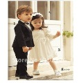 Wholesale - 3sets 4-piece Baby gentleman suits (jacket +pants+shirt+necktie ) set hot selling !