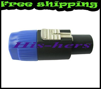 Free shipping 4 pin pro audio connector for spoken speaker cable(China (Mainland))