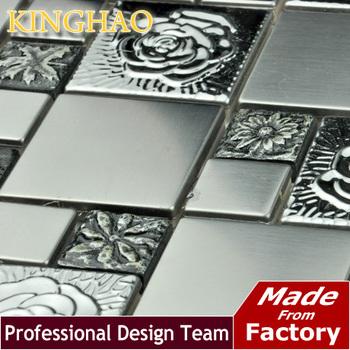 [KINGHAO] hot sale mosaic sticker stainless steel sheets light decoration KS4804 wallpaper tv background