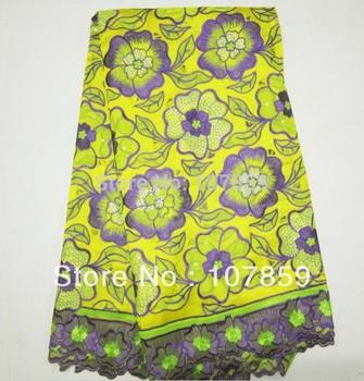 Shiping libre, nuevo cordón suizo, la gasa de algodón, tela del bordado