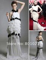Diane Kruger Trumpet / Mermaid Halter Sweep / Brush Train Sleeveless Chiffon Oscar/ Evening Dress