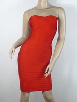 Free Shipping For Apac Region HL Bandage Dress H021 Res Strapless Evening Party Dress