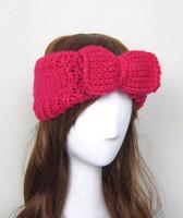 Wholesale Ladies' Knitted Neck warmer hair accessories Crochet hair band Loop Tube Bow headwear(TD-09)
