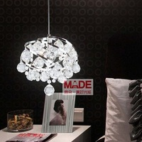 Artistic personality spiral pendant lamp Modern crystal lamp bedside lamp lights restaurantMD1064