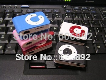 Free shipping  2pcs/lot New mini Mp3 player C keys card clip Support 1-8Gb Micro TF card