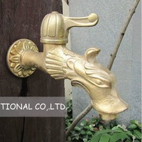 Free shipping  pure copper artistic brass faucets/bathroom faucets/dragon faucets/mop tap/washing machine tap