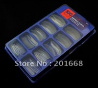 100pcs Super Salon Long C Curve Acrylic Nail Art False Tips Fake Nail Tips Clear Color NA930B