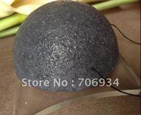 12pcs/lot 4colors Semicircular 100% Natural Charcoal Konjac Facial Sponge Facial Wash Cleaning Puff 74*74*33