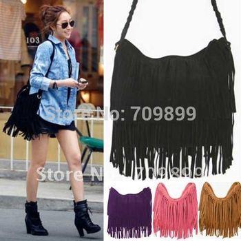 European&American Style Star  Fashion Tassels Bags Hobo Clutch Purses Handbags women Shoulder Tote Women Bags B098 on Hot Sale