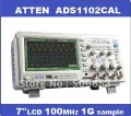 "HOT SALE !!!   ATTEN ADS1102CAL 100MHz 1G Digital Oscilloscope 7"" LCD"