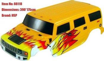 rc modelFree shipping, RC Car Body, 1/8 Monster Truck & Crawler Body-47*18cm, Brand:HSP1