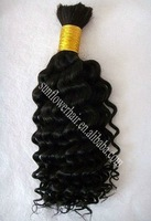 Super quality  100% curly brazilian virgin human hair braiding bulk for braiding no chemical without mixed