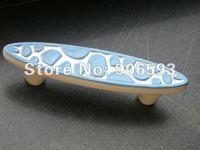 Porcelain sweet blue speckle cartoon cabinet handle\12pcs lot free shipping\porcelain handle\furniture handle