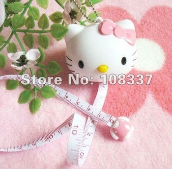 New 10x Lovely Hello Kitty Soft Tape Measure Keychain Measuring tape free shipping