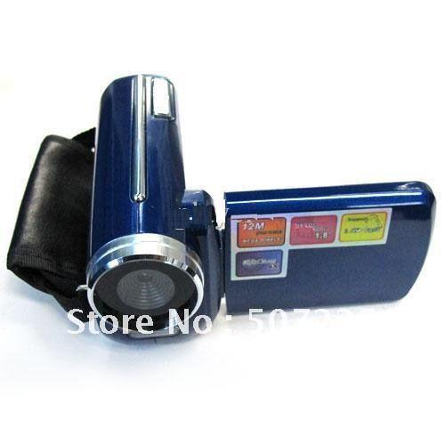 "Wholesale Free shipping Mini Digital Video Camera Camcorder DV139 12MP 4xZoom 1.8""TFT blue(China (Mainland))"