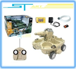 Whoesale - Newest - 24883A RC Tank Radio Remote Control Amphibious Tank water shooting with battery R/C ready to go toy(Hong Kong)