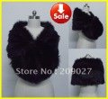 NEW Arrival Designer Black Faux Fur Pearl Shrug Cape Stole Wrap Shawl Wedding Bridal
