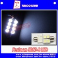 12V Festoon 8 SMD 5050 Car LED Light,Festoon Dome LED Light Bulbs,10pcs/lot,free shipping,#D09088
