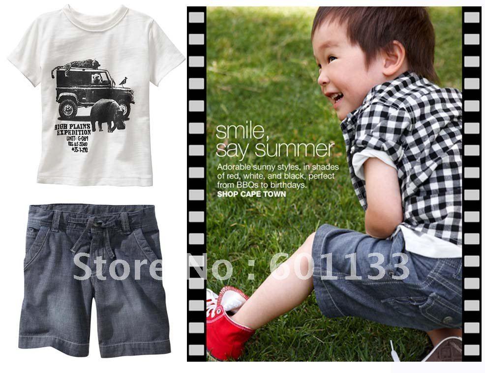 6 sets boys clothes set, boys t shirt boys pants jeans, kids clothes,