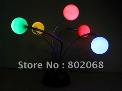 5 leds Sound Control Led Novelty Light Ball MS-015 #5566 (no box)(China (Mainland))