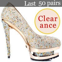 Hot two paragraph waterproof, high heels shoes,colorful diamond women shoes (Clearance)x 94