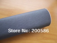 Brushed aluminum vinyl stickers car wrapping foil gray grey 1.52m*30m Free Shipping BA30m