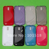 100pcs/lot Free shipping New TPU Silicone Gel case for Samsung Galaxy S2 X T989
