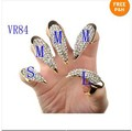 Punk Snake Spikes False Nail Crystal Rhinestone Claw Paw Talon Ring Free[VR84*5]