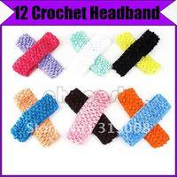"""1.5"""" Craft Boutique Flower Hair Bow 12 Crochet Headband @1767"""