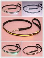 Wholesale 50pcs/lot  colors available Nylon  LED flash lighting  dog pet cat Leashes leash, ,dog harness dress up your pet dog
