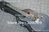 Luxury custom 22 Redwood Solid body Bird inlay fret board with floyd vibrato