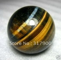 40mm natural Tiger's Eye/tigereye  ball +stand