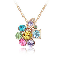 Crystal Pendants Necklaces Wholesale Make With Austrian Crystal Fashion Accessories For Women Rose Gold Jewelry 4484