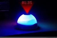 100pcs/ctn wholesale led projector clock flashing 7 colors changing clock projection clock white 135g/pc AAA*3 not include