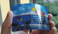 free shipping glossy pvc business cards printing both sides new fashion