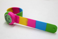 100pcs DHL free shipping child slap watch kid rainbow watch face color