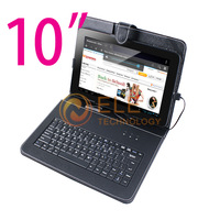 free shipping 10.1 tablet leather case with keyboard for 10inch tablet pc