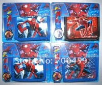 Wholesale Cute 5 Sets Spider Watches wristwatches with XMAS Gift+ Purses Wallets