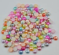 Free Shipping MIX COLORS 2000pcs/bag 4mm ABS Half Round Pearls,Garment Accessory Beads,card making & scrapbooking DIY products