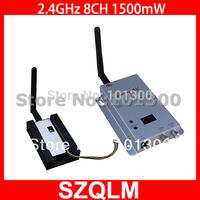 2.4GHz 1500mW wireless av transmitter & receiver  Free Shipping