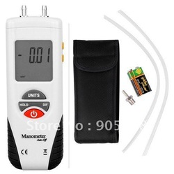 Digital Manometer Air Pressure Meter Gauge Kit + Case(China (Mainland))