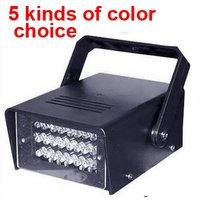 2pcs/lot New LED Flash lamp Party Disco Mini Strobe stage Light DJ Lighting  5 color for Choice   HXB0293