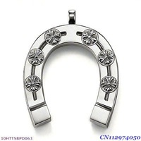 Free Shipping wholesale big size Horseshoe Pendant ,925 silver charm pendants,925 sterling silver jewelry,fashion pendants