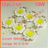 10pcs/lot Free Shipping 10W 900LM LED Bulb IC SMD Lamp Light White High Power-10000054