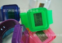 2011 NEW design digital jelly watches silicone watch candy colour jelly watch 100pcs free shipping via DHL EMS