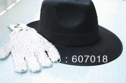 MJ Michael Jackson ultimate collection Black Fedora Hat(China (Mainland))