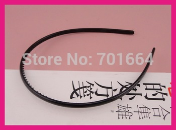 10PCS 5mm smooth half round  plain plastic hair headbands with teeth inside,BARGAIN for BULK