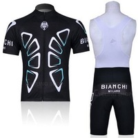 BianChi Short Sleeve Cycling Jersey+Bib Shorts