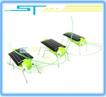 Clearance Sale Free Shipping - 10pcs/lot Mini Solar Toy  Solar Grasshopper Solar robot Powered Grasshopper with s supernova sale