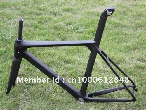 2012 New Style Cool Carbon Road Racing Bicycle Frame 52cm 3K Weave Matt Finish BSA Bottom Bracket + Front Fork + Fixed Seat Port(China (Mainland))